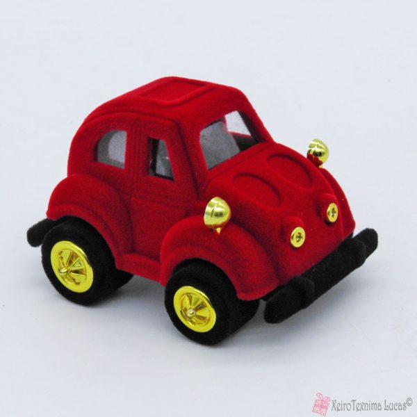 Βελούδινο κουτί μπιζού αυτοκινητάκι