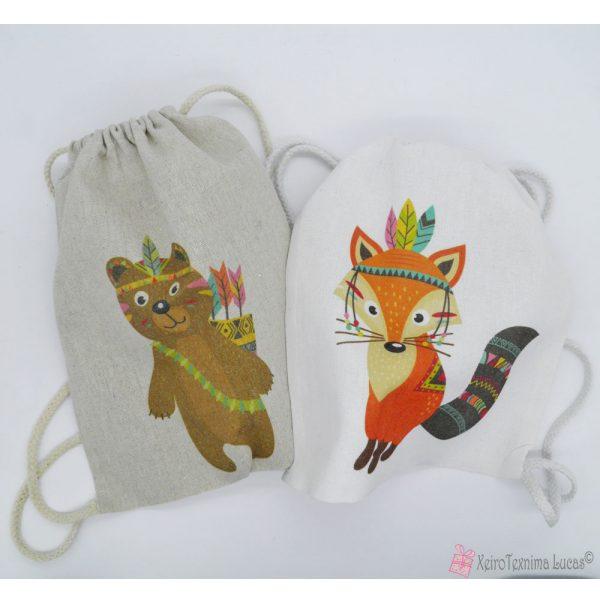 τσάντες - πουγκιά με παιδικές παραστάσεις
