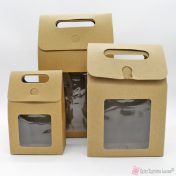 Χάρτινα κουτιά με παράθυρο σε διάφορες διαστάσεις