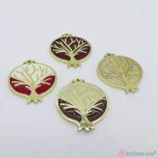 Χρυσό ρόδι με δέντρο και σμάλτο σε πολλά χρώματα