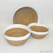 Μαλακά στρογγυλά κοφίνια, κατασκευασμένα από σχοινί