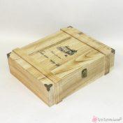 Ξύλινο κουτί για τρία μπουκάλια
