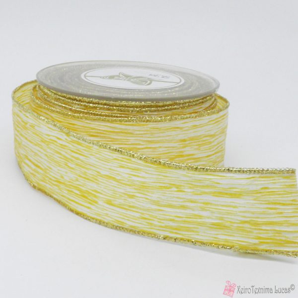 χρυσή πλισέ κορδέλα με χρυσή ούγια