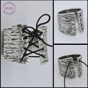 DIY δαχτυλίδι με κορδόνι