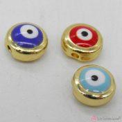 Μεταλλικές χάντρες με μάτι σε διάφορα χρώματα