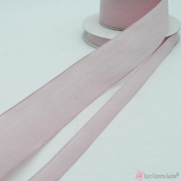Ροζ βαμβακερή κορδέλα