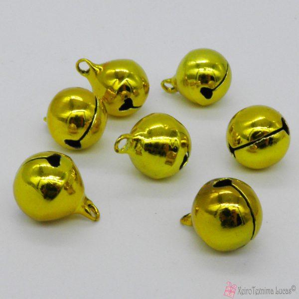 χρυσά μεταλλικά κουδουνάκια