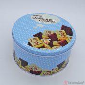 Στρογγυλό μεταλλικό κουτί Sweet delicious cookies