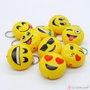 Κίτρινη φατσούλα emoticons - φακός μπρελόκ