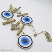Ξύλινη γιρλάντα με μάτια