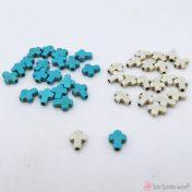 Χαολίτης σταυρουδάκια χάντρες 10*8mm σετ20