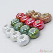 Περλέ κεραμικές χάντρες σε διάφορα χρώματα