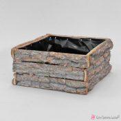 Τετράγωνο ξύλινο κασπό 19cm