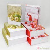 Χάρτινο χριστουγεννιάτικο κουτί βιβλίο