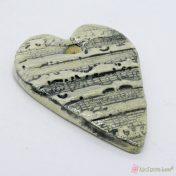 Κεραμική καρδιά με πεντάγραμμο και νότες