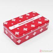 Παραλληλόγραμμο μεταλλικό κουτί Merry Christmas