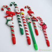 Χριστουγεννιάτικα στυλό μπαστούνι